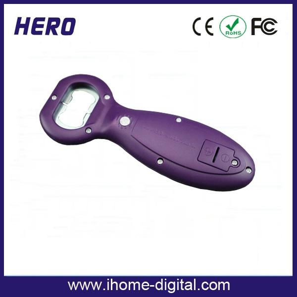 beer bottle opener with customized logo and voice