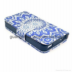 new style phone case credit card PU leather edge holder