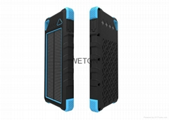 2015 Newest 8000mAh Dual USB Waterproof, Dustproof and Shockproof Solar Power Ba
