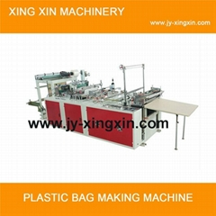 Outside patch handle bag making machine