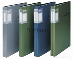 Metallic clear book