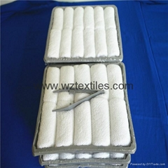 Fragranced Disposable Tray Towels With Tong And