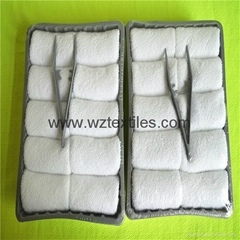 Bleached Disposable Face Towels In Tray Packed