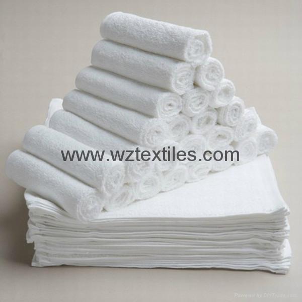White Cotton Terry Towel  1