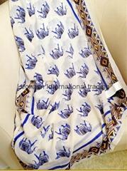 elephant print border print all side fashion scarf