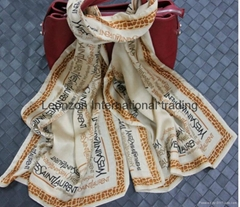 fashion print in silk