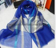 metallic interweave bright color scarf