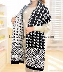 swallow grid knitting warm scarf