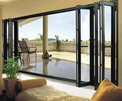 aluminum doors security glass folding door