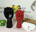 Customized Colorful 7'' ,10'', 12'' wooden hands model Manufacturer