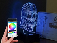 Unique  3D Das bluetooth Music Lamp