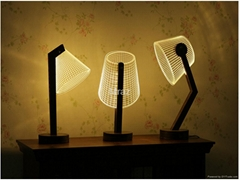 3D Eyeshield Originality wooden table Lamp