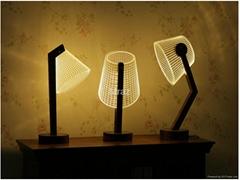 3D Eyeshield Originality wooden table Lamp