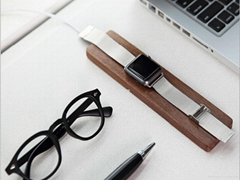 Wooden Charger Basis For Apple Watch