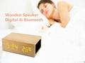 Natural Wooden LED Screen Alarm Bluetooth Speaker  1