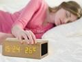 Natural Wooden LED Screen Alarm Bluetooth Speaker  2