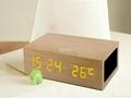 Natural Wooden LED Screen Alarm Bluetooth Speaker  3