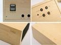 Natural Wooden LED Screen Alarm Bluetooth Speaker  8