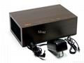 Natural Wooden LED Screen Alarm Bluetooth Speaker  14
