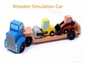Wooden Simulation Engineering Transport Truck Toy  1
