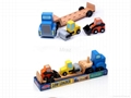 Wooden Simulation Engineering Transport Truck Toy  4