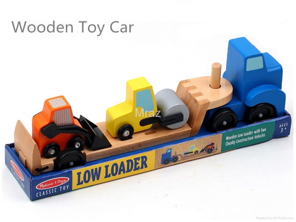 Wooden Simulation Engineering Transport Truck Toy  2