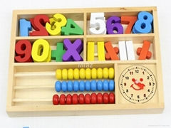 Wooden Digital Learning Box Educational Toys