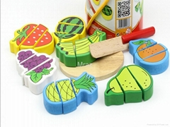 Wooden Simulation Cut Fruit Puzzle Toys