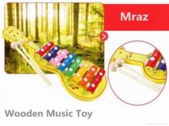 Wooden Guitar knocking Music Toys