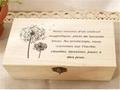 Retro Style Wooden Jewelry Box with Dandelion 2