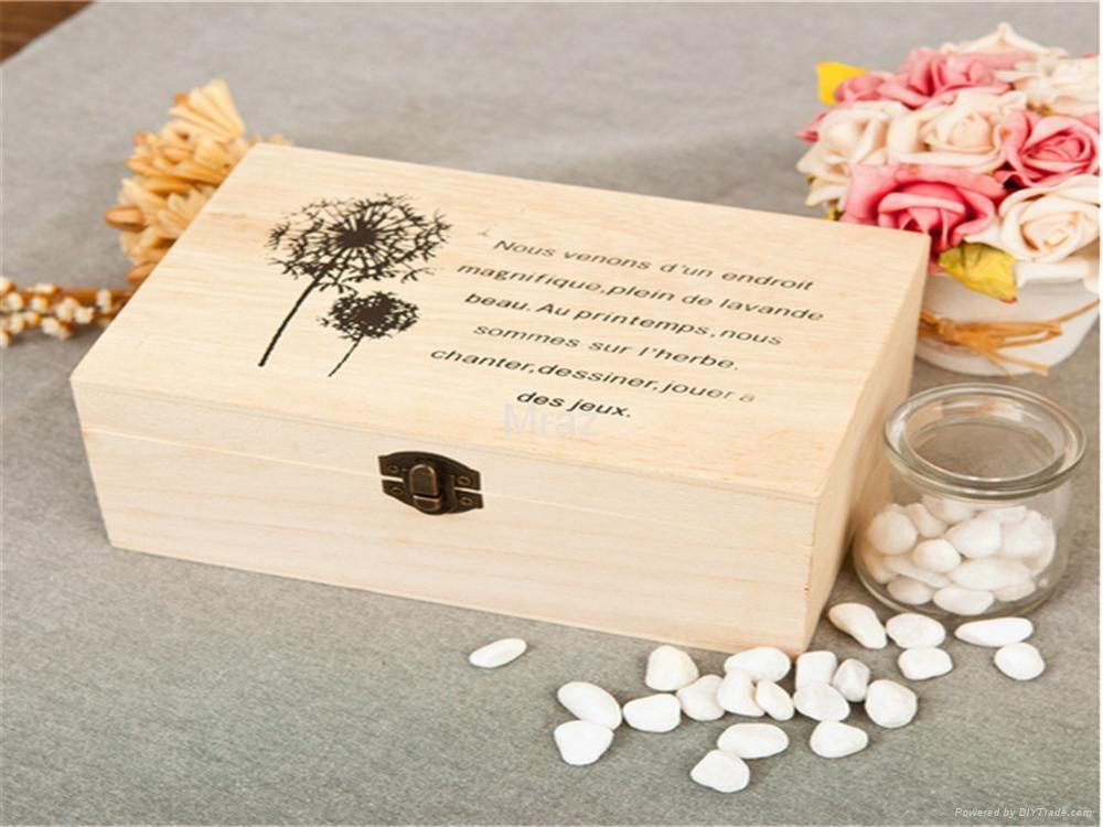 Retro Style Wooden Jewelry Box with Dandelion 5