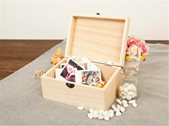 Retro Style Wooden Jewelry Box with