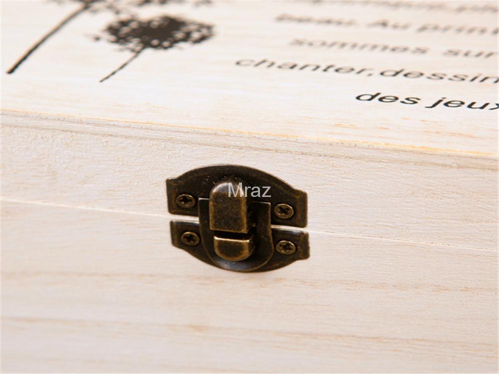 Retro Style Wooden Jewelry Box with Dandelion 9
