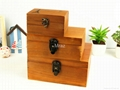 Retro Style Wooden Jewelry Box With Eiffel Town 4