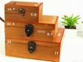 Retro Style Wooden Jewelry Box With Eiffel Town 6