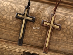 Fashion wooden cross Necklace jewelry for gift