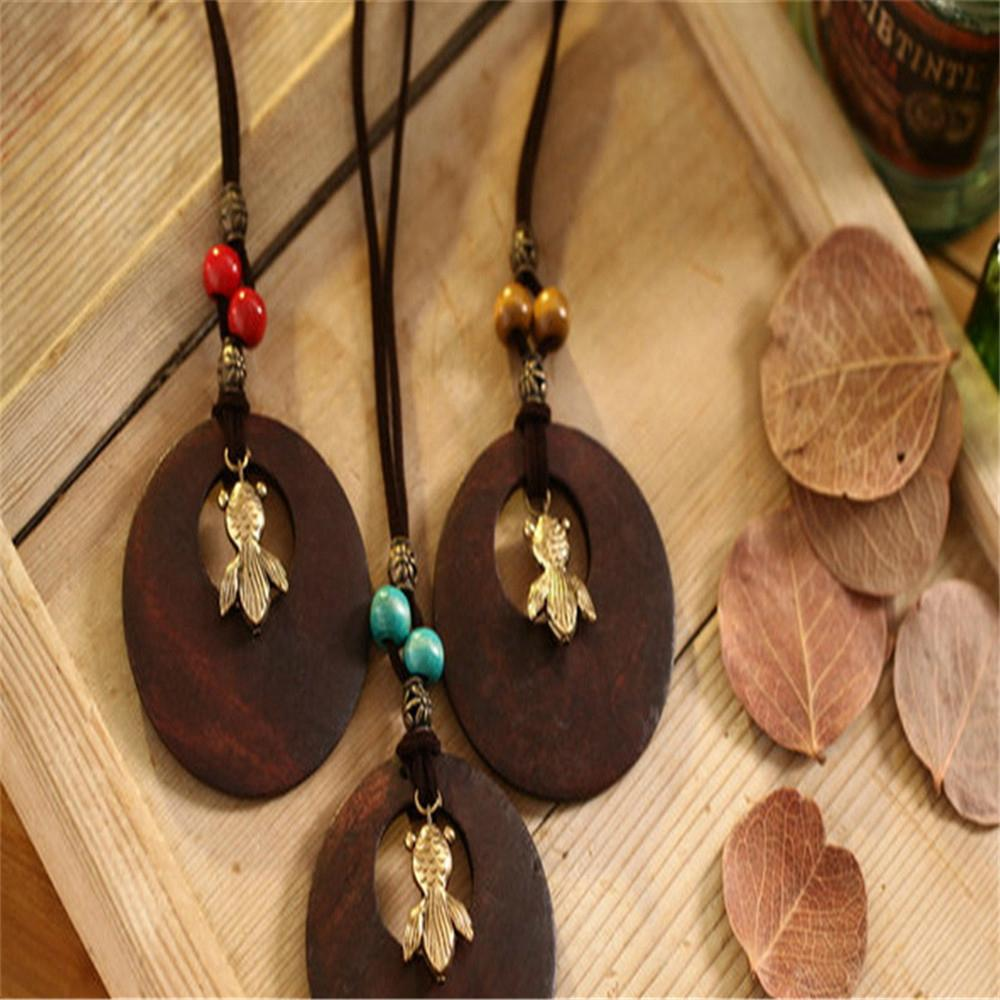 Fashion Rosewood Pendant Necklace jewelry 13