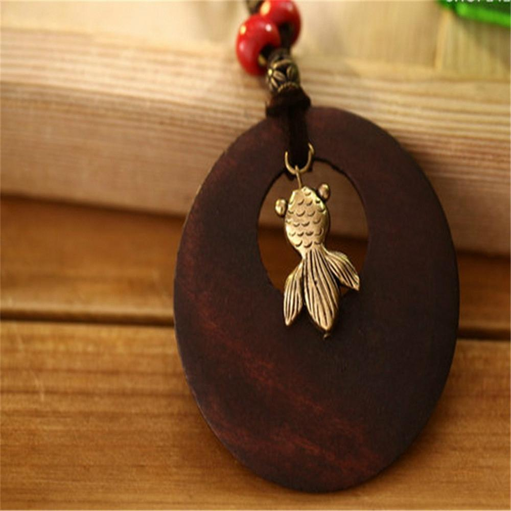 Fashion Rosewood Pendant Necklace jewelry 18