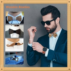 factory direct fashion wooden wedding  bow tie for gift