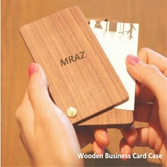 Fashion Wooden Business Card Case for