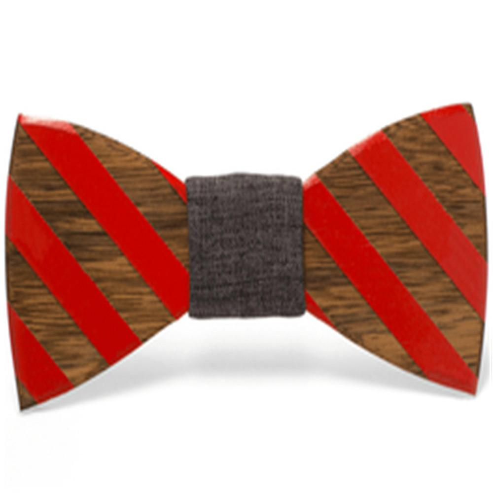 2019 Promotional Items Handmade wooden bow tie for man's suit 3