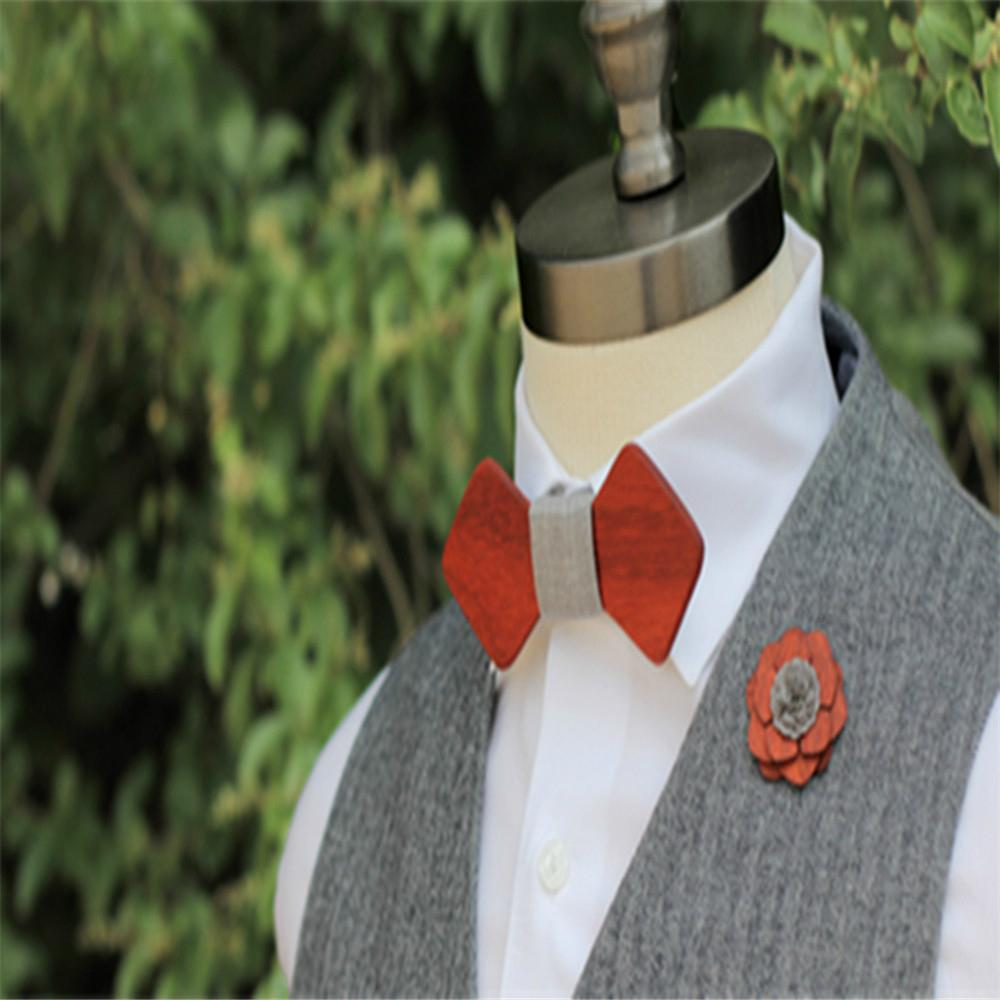 2019 Promotional Items Handmade wooden bow tie for man's suit 6