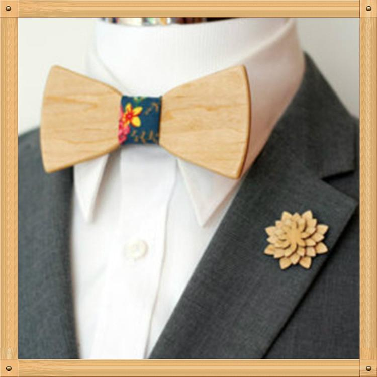 2019 Promotional Items Handmade wooden bow tie for man's suit 8