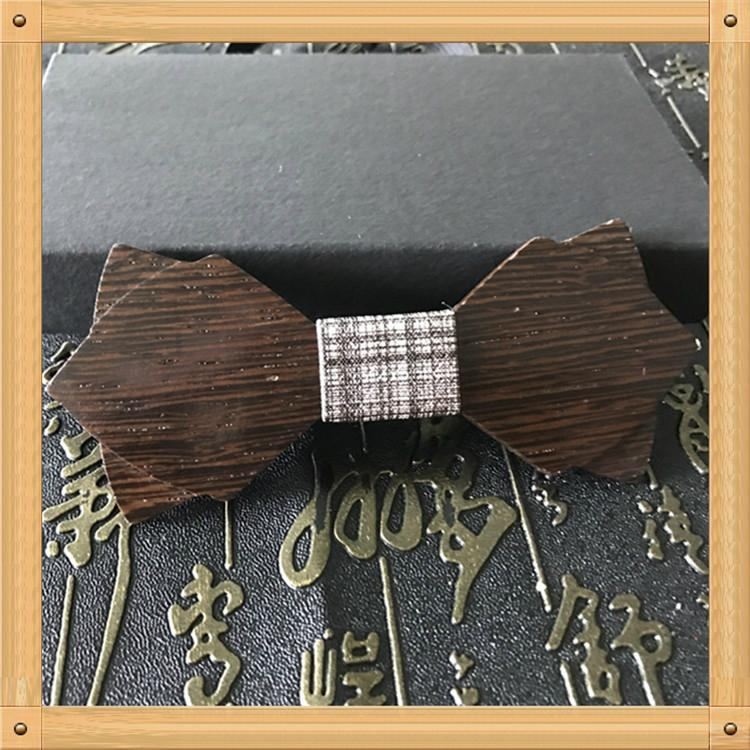 2019 Promotional Items Handmade wooden bow tie for man's suit 16