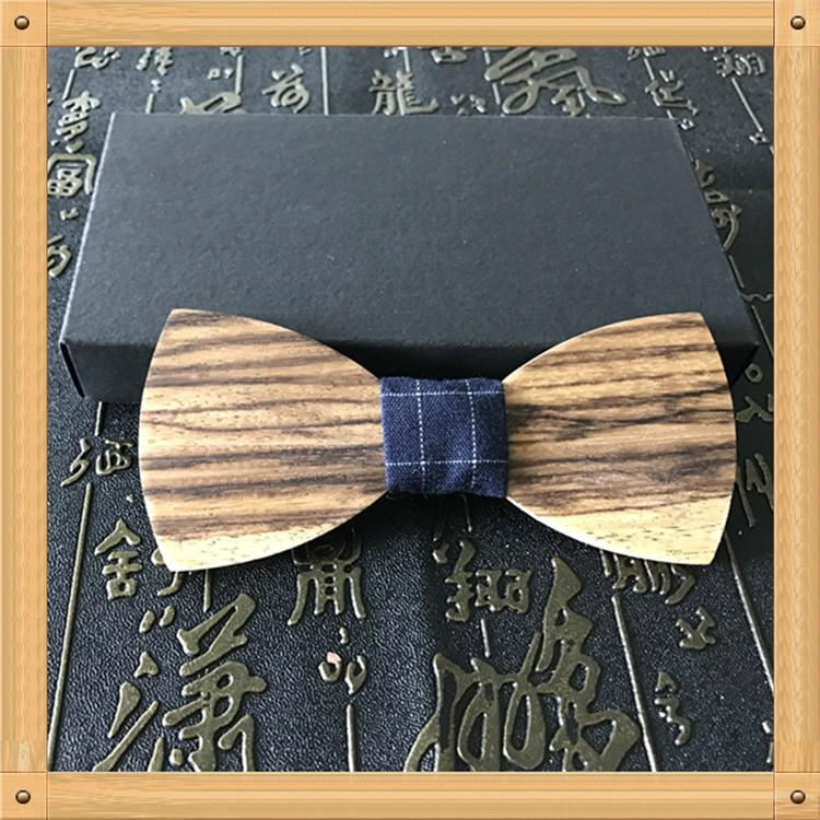 2019 Promotional Items Handmade wooden bow tie for man's suit 18