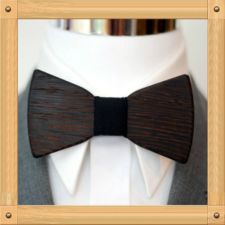 New Design fashion customized wooden bow tie for wedding  3