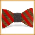 New Design fashion customized wooden bow tie for wedding  4