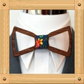 New Design fashion customized wooden bow tie for wedding  8