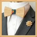 New Design fashion customized wooden bow tie for wedding  9