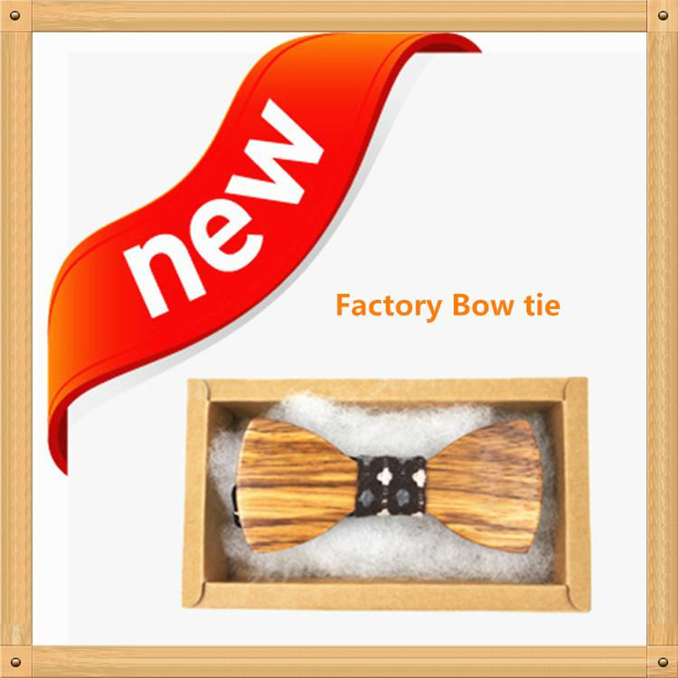 New Design fashion customized wooden bow tie for wedding  11